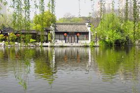 合肥包河公园浮庄茶楼外景