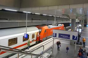 柏林中央火车站站台