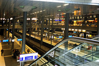 德国柏林中央火车站站台