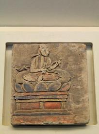 彩绘菩萨坐像墓砖宋代