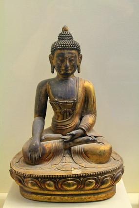 释迦摩尼铜佛像明代
