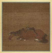 赵雍马猿猴图