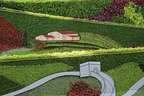 绿色墙长城家园背景