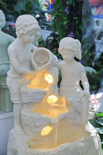 抱水瓶的小孩流水灯