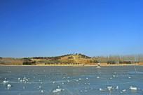 北京奥林匹克公园仰山和主湖