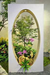 创意园艺插花展示台