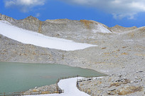 达古冰山现代冰川冰蚀湖地貌