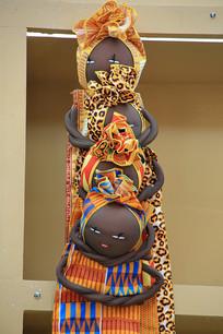 非洲手工艺品女娃娃