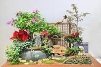 古风人家插花园艺作品