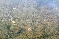 航拍安徽合肥芜合高速公路及周边
