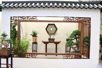 江南风格园艺盆景
