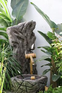 室内园艺造型竹泉
