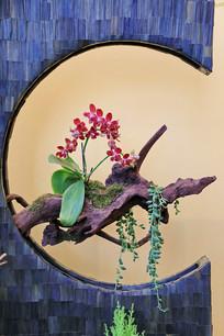 树根插花艺术造型