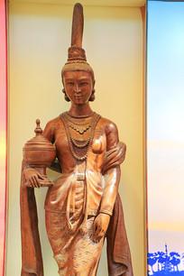 泰国木雕女孩