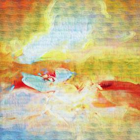 北欧抽象油画