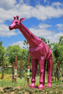 长颈鹿雕像