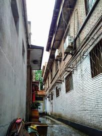 红砖老房屋图片素材
