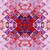 四方连续纹印花花型