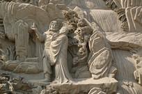 八大处灵光寺罗汉图浮雕局部