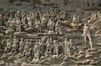 八大处灵光寺五百罗汉图浮雕