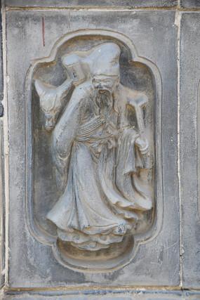 八仙人物张果老砖雕