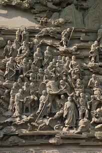 北京八大处五百罗汉图浮雕局部