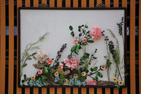 干花插花画-牡丹园