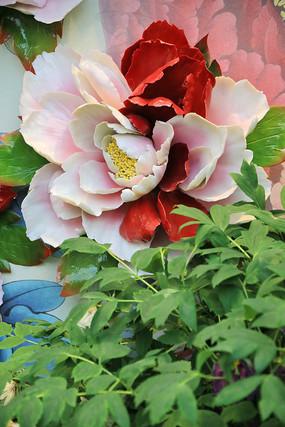 牡丹花瓷雕