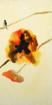 秋韵新中式风格壁画