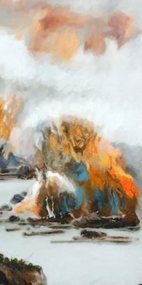 中国风山水油画