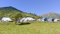 黑水县藏族村寨营地帐篷旅馆