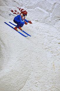滑雪运动员模型