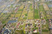 鸟瞰上海浦东海岸地区
