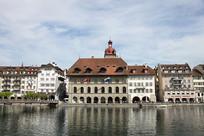 瑞士卢塞恩城市风光
