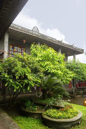 四川元通古镇黄家大院的庭院