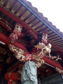 中式建筑房梁
