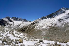 阿坝黑水达古冰山的冰山雪峰