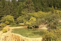 黄龙黄龙高原湿地彩池