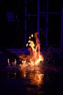 上海玻璃博物馆玻璃液体燃烧