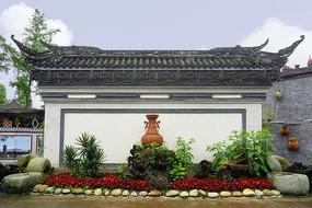 四川元通古镇黄家大院的萧墙