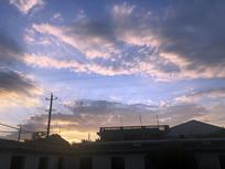 傍晚天空的云彩