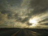 落日云海路