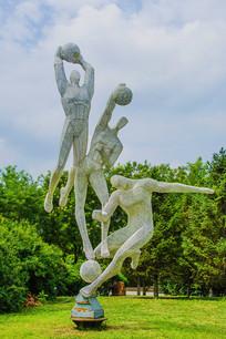 足球篮球排球运动员铁网镂空雕
