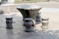 大理石桌凳