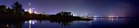 深圳湾公园红树林璀璨夜景全景图