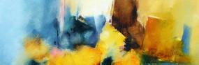 现代手绘抽象油画