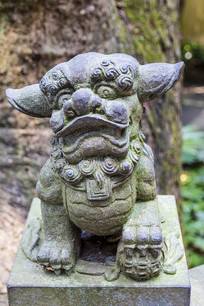 中国浙江舟山普陀山西天法界石狮