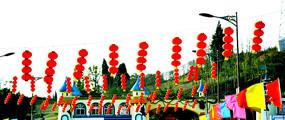 公园红灯笼