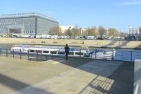 柏林施普雷河沿岸城市风光