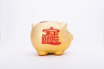 猪型陶制存钱罐